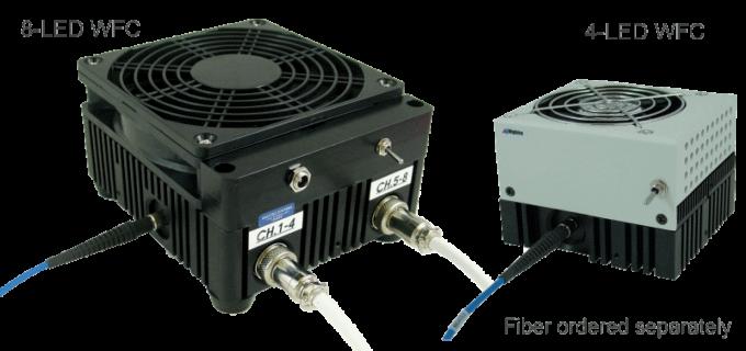 Source LED WFC Mightex multi-longueur d'onde couplée à une fibre